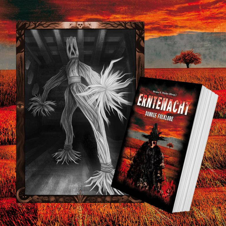 Erntenacht Cover und Illustration. Mit einem Klick zur Autorin Seite von Constanze Scheib